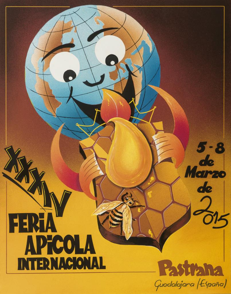 Cartel Anunciador Feria Apícola Internacional 2015